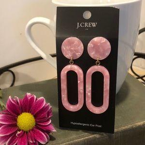 NWT- J. Crew Rose Pink Tortoise earrings